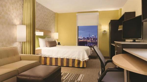 Zimmer mit Blick auf New York City