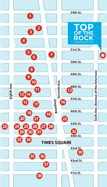 mappa teatri broadway