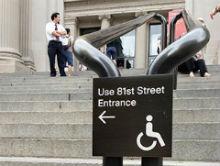 ingresso per disabili, museo New York