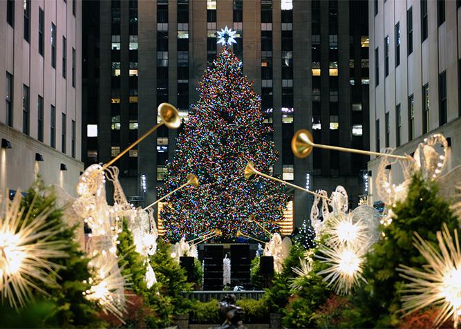 Albero Di Natale Rockefeller Center 2020.Albero Di Natale A New York Rockefeller Center Accensione