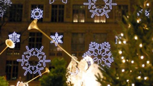 luci natalizie al Rockfeller Center