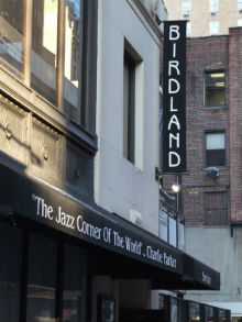 Birdland, jazz club New York