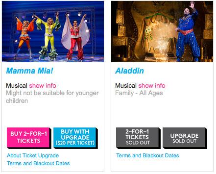 Sito per acquisto biglietti Broadway week