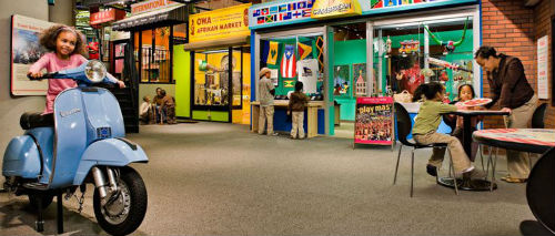 l'interno del museo per bambini di Brooklyn