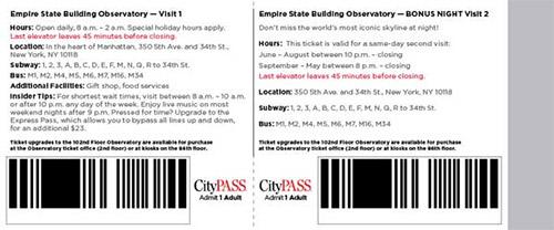 esempio biglietto city pass