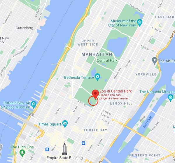 Dove si trova lo Zoo di Central Park