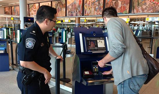 chioscho automatico controllo e verifica passaporti