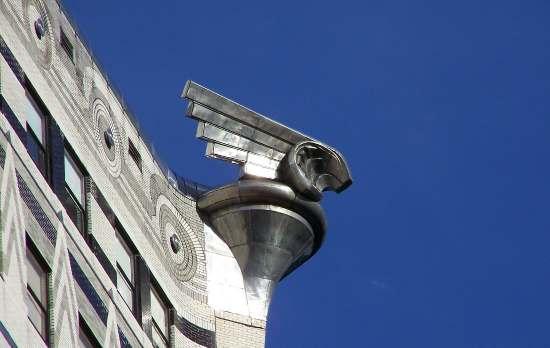 Particolare del doccione del Chrysler Building
