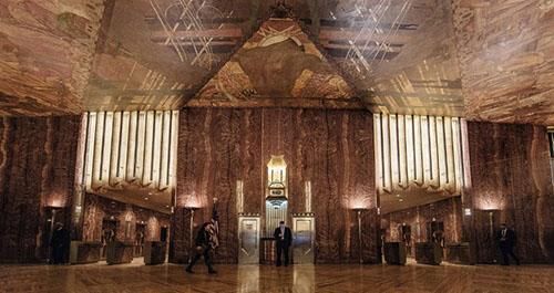atrio del Chrysler Building