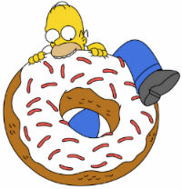Homer e le ciambelle Dunkin Donuts