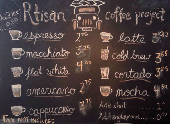 tipologie di caffe a new york nel menu