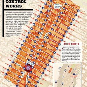 controlli di sicurezza e accessi al capodanno a Times Square