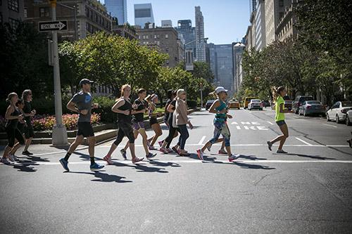 correre nel centro di Manhattan