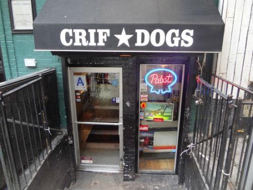 gli hot dog a new york da crif dogs