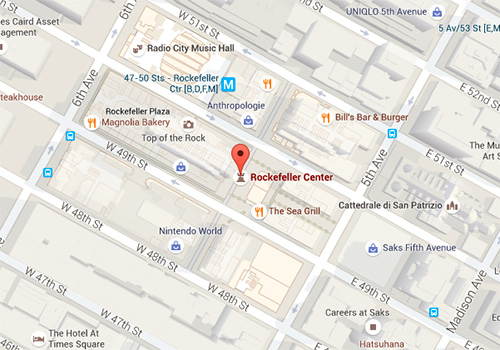 mappa albero di natale a new york
