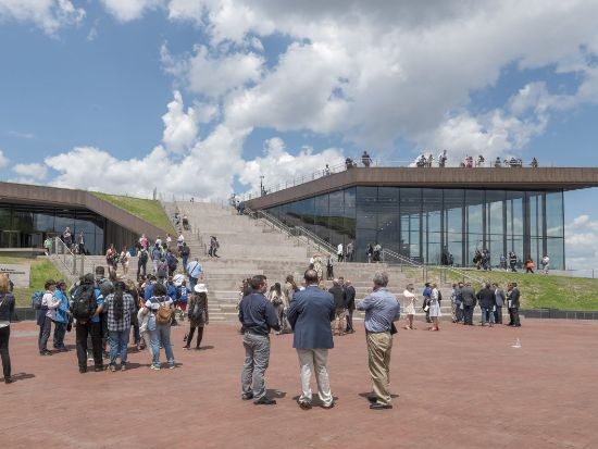 L'esterno del Museo della Statua della Libertà