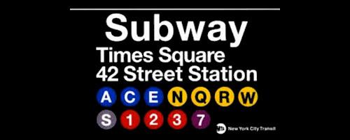 la fermata 42st. a Times Square