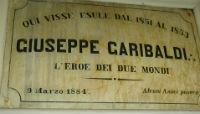Targa esposta al Garibaldi Meucci Museum