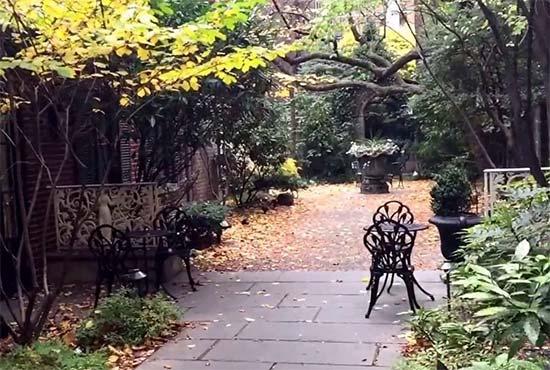 giardino sergreto ad Amster Yard - Turtle Bay