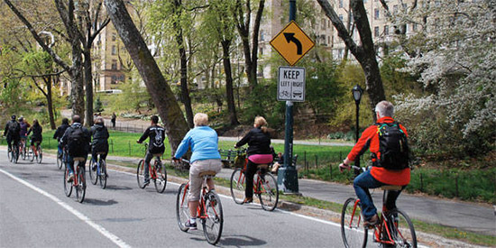 giro in bicicletta a Central Park