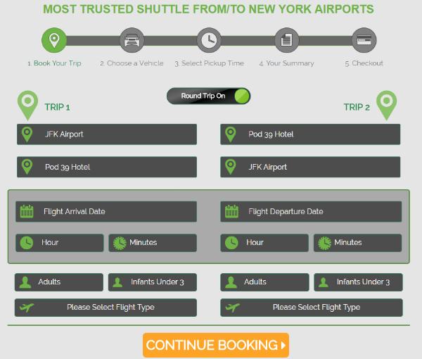 Go Airlink - schermata inserimento dati