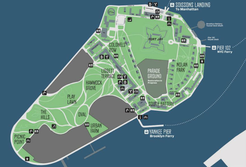 Mappa Governors Island