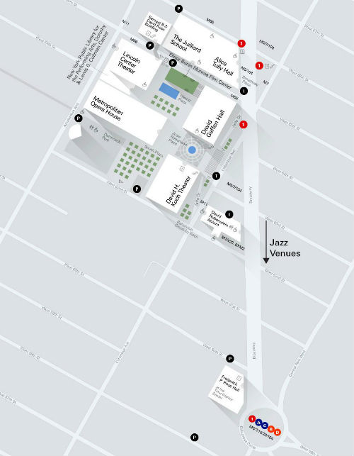 Mappa del Lincoln Center di New York