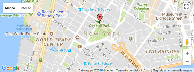 mappa del city hall park a new york