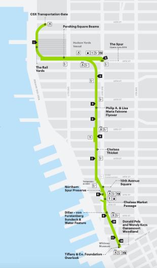 Mappa Percorso High Line