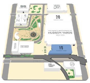 Mappa Hudson Yards
