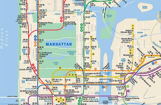 mappa pdf metropolitana di New York