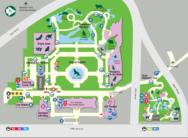 Mappa dello Zoo di Central Park