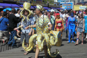 la mermaid parade a coney island