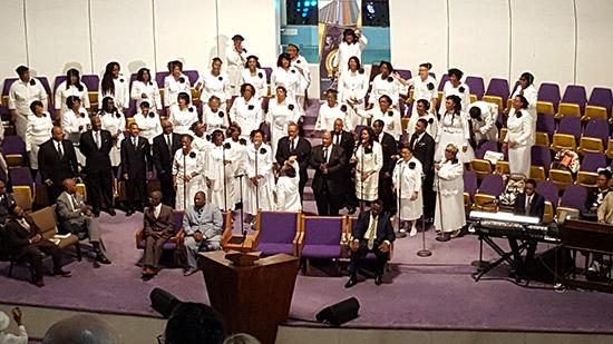 rito con coro gospel ad Harlem
