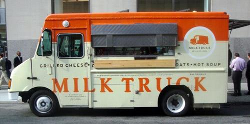 milk truck a new york