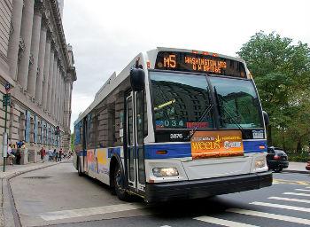Muoversi in autobus a New York