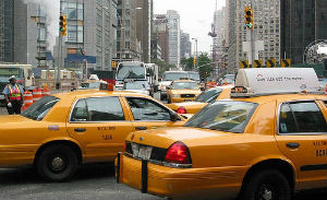 Muoversi in taxi a New York