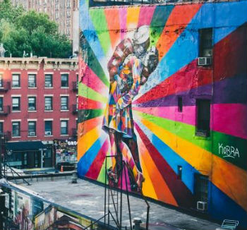 Murale a New York sulla High Line