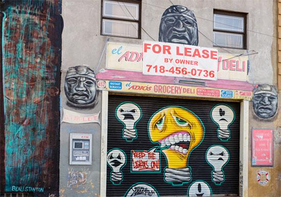 Murales e graffiti a Bushwick su muri di attività commerciali - Fotogallery 06