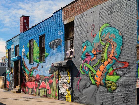 Murales e graffiti a Bushwick su case e abitazioni - Fotogallery 07