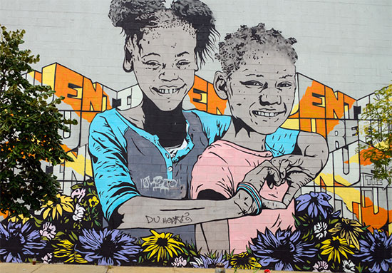 Murales e graffiti a Bushwick New York, con messaggi di pace - Fotogallery 10