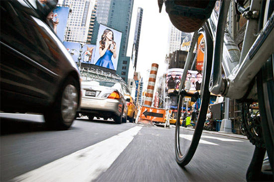 new york in bicicletta
