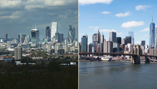 New York vs Londra