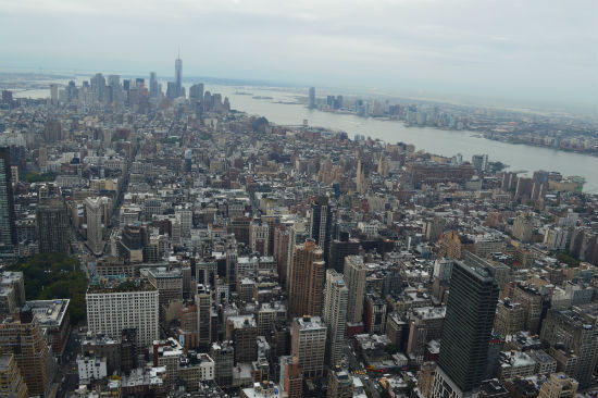 panorama di New York dall'Empire State Building