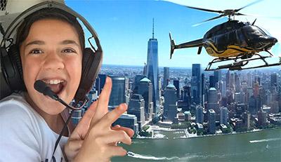 panorama di new york dall'elicottero