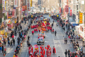 parata del capodanno cinese a New York ChinaTown