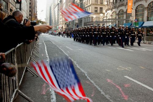 la parata militare durante il Veterans Day