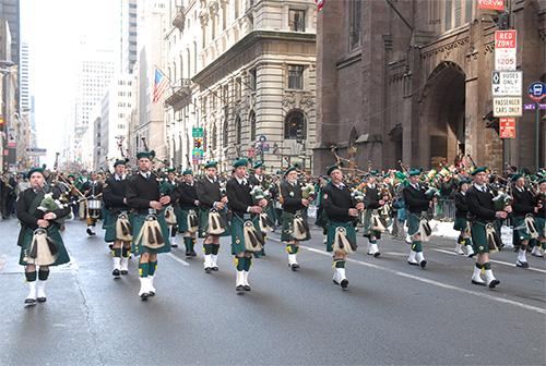 la festa di San Patrizio a New york