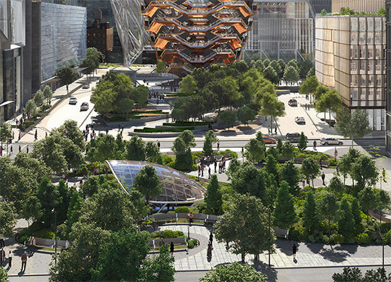 parco e spazi verdi all'Hudson Yards