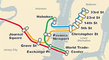 Percorso Path Manhattan Hoboken